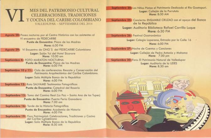 Mes del Patrimonio 2014 programa
