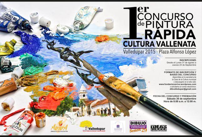 Afiche Concurso Pintura Rápida.