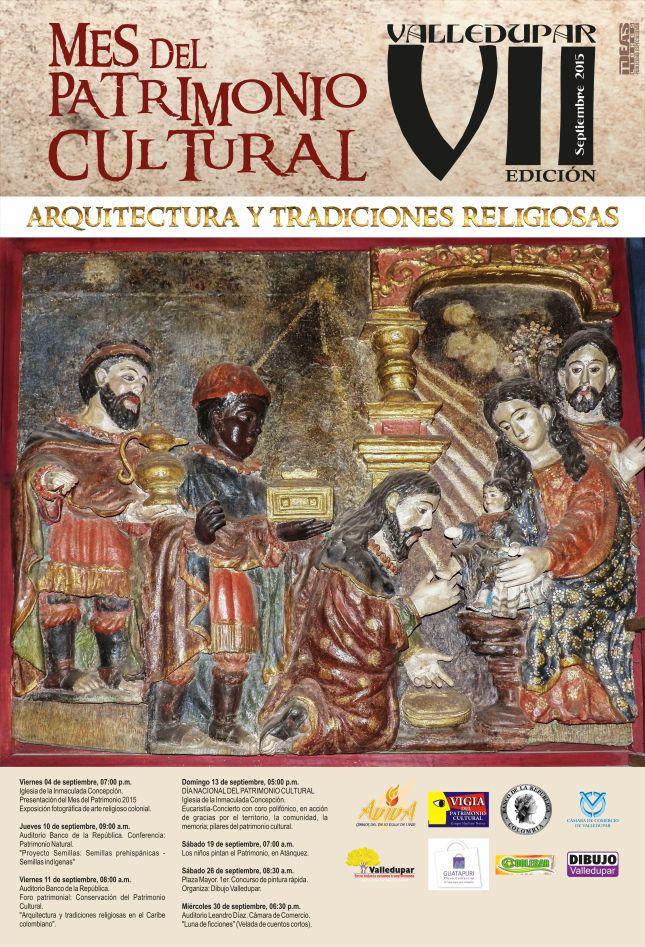 Afiche Mes del Patrimonio Cultural 2015